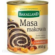 Masa Bakalland makowa 850g